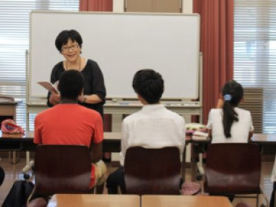 The Summer Study-support School for elementary and junior high school students with foreign backgrounds was held during this summer!