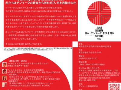 Announcement: The memorial symposium for the 150th anniversary of diplomatic relations between Japan and Denmark